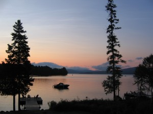 Summer sunset on Rangeley Lake