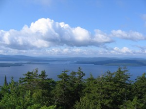 Top of Bald Mountain in Rangeley